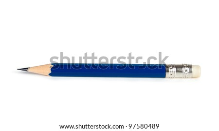 image of pencil isolated on white background - stock photo