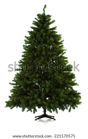16 image series of an artificial Christmas Tree being put together, including gifts. - stock photo