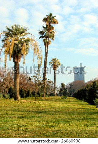 in park De La Ciutadella, barcelona, spain - stock photo