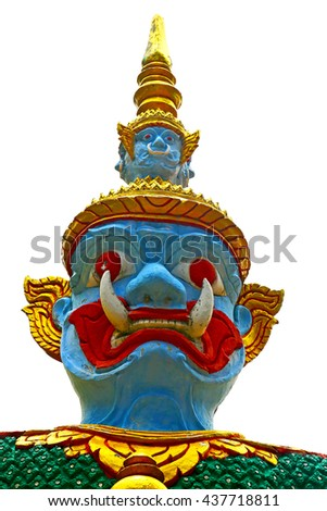 in the temple bangkok asia   thailand abstract cross        step    wat  palaces    - stock photo