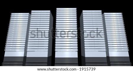 19inch Serverracks - stock photo