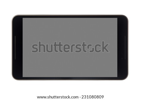 8 inch tablet isolated on white background  - stock photo
