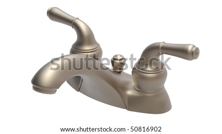 4 inches centerset faucet - stock photo