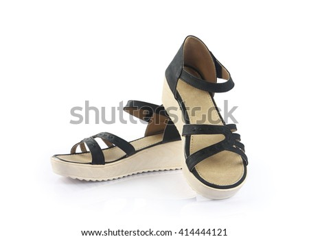 Indian Made Ladies sandal Isolated on White Background  - stock photo