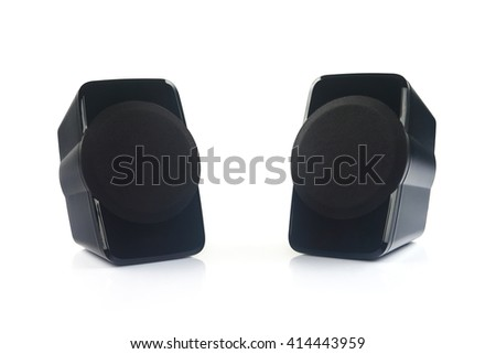 Indian Made Portable Speakers With Woofer  - stock photo