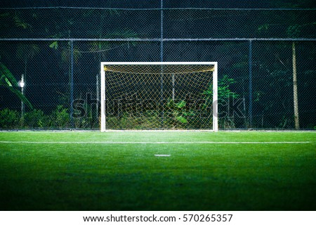 Indoor Football Soccer Field Goal Post Stock Photo 570265357 ...
