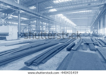 Industrial production and internal mechanical workshop - stock photo