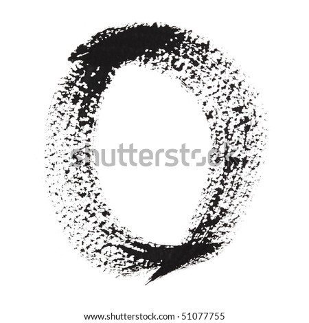 0 - Ink numbers isolated over the white background - stock photo