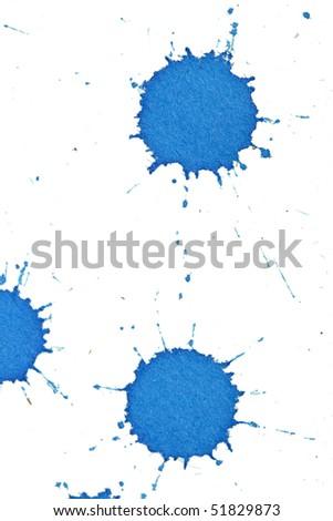 Ink splashes - stock photo