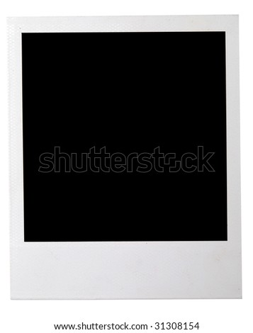 instant photo isolated on a white background