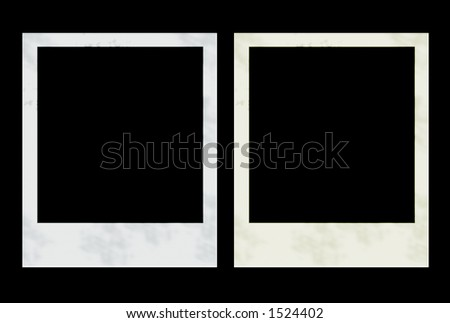 2  instant photos for designs and framing - stock photo