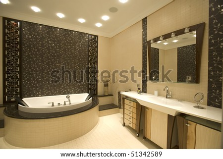interior of a bathroom - stock photo