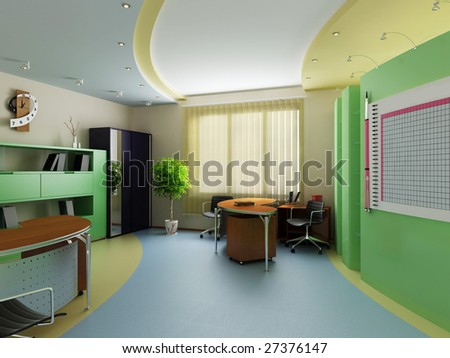 Interior of office - stock photo