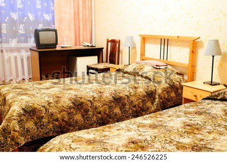 interior rooms in the Motel - stock photo