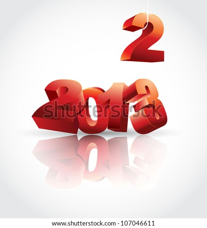 2013 is coming raster version - stock photo