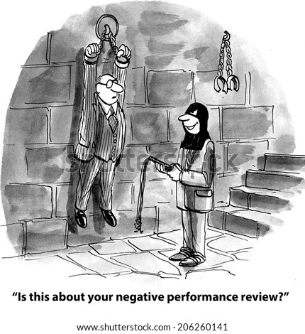 """Is this about your negative performance review."" - stock photo"