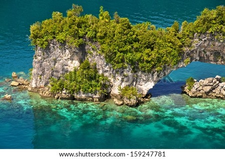 70 Island in Palau - stock photo