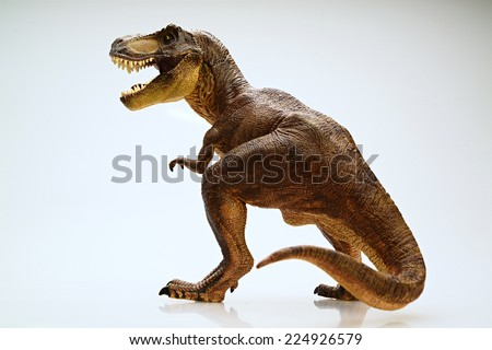 Isolated dinosaur on white background - stock photo