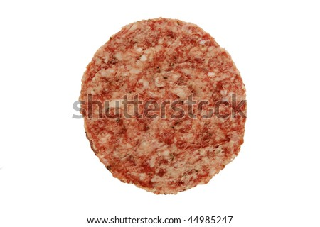 isolated hamburgers  on a white background - stock photo