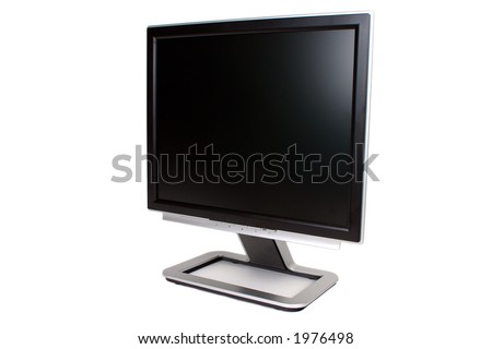 """19"""" isolated LCD screen - stock photo"""