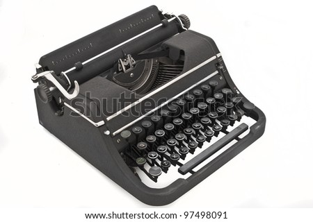 isolated old vintage typewriter