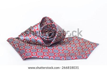 isolated silk tie  - stock photo