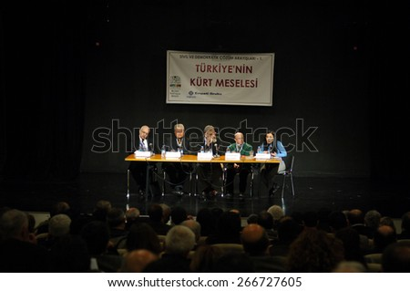 ISTANBUL, TURKEY - MARCH  17: Kurdish conference held at Bilgi University  on March  17, 2006 in Istanbul, Turkey.