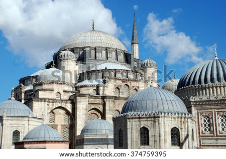 Istanbul, Turkey. One of the mosques in Istanbul. - stock photo