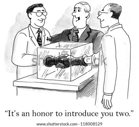 """It's an honor to introduce you two."" - stock photo"
