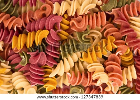 italian pasta, background - stock photo