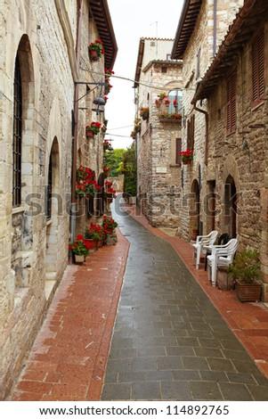 italian street - stock photo