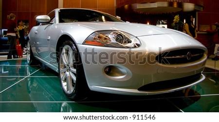 2006 Jaguar XKR sports car - stock photo