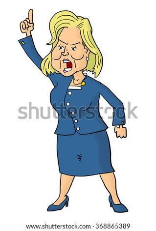28 January, 2016: Hillary Clinton giving speech - stock photo