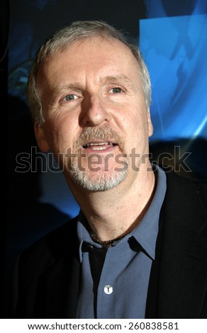 20 January 2005 - Hollywood, California - James Cameron. World Premiere of 'Aliens of the Deep' at Universal Citywalk Imax Theatre in Hollywood.  - stock photo