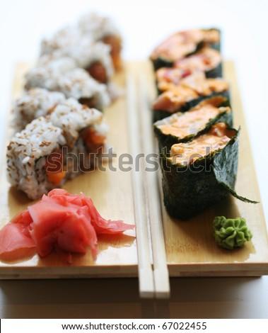 Japanese food. Sushi. - stock photo