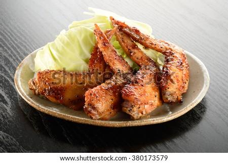 japanese food tebasaki - stock photo