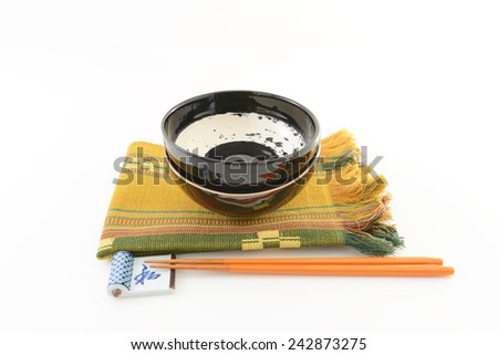 ?Japanese style tableware - stock photo