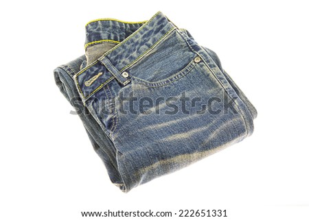 jeans isolated on the background.