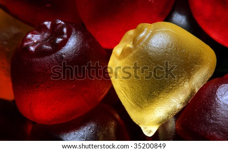 Jelly sweets the ultimate candy snack for  children - stock photo