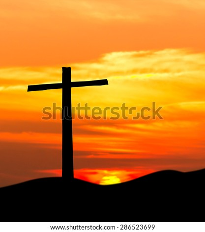 jesus cross bible - stock photo