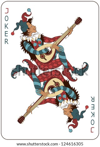 Joker Playing Card. Raster version - stock photo