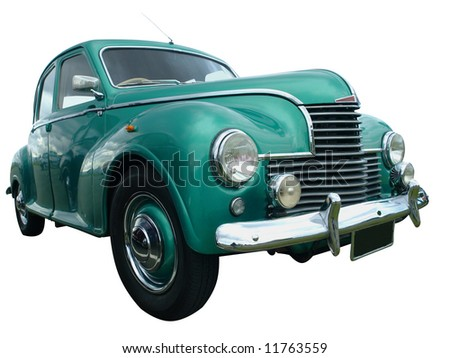 1952 Jowett Javelin isolated with clipping path