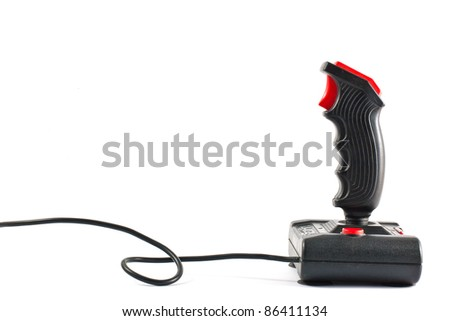 ,joystick isolated on white, - stock photo