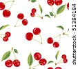 (Jpg)  Cherry Seamless Pattern (A vector version also available) - stock photo