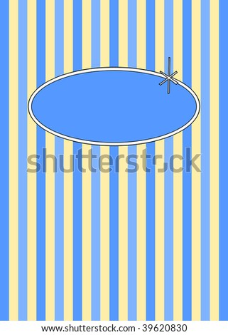 (Jpg) 1950's retro candy stripes design with copy space. A vector version is also available. - stock photo