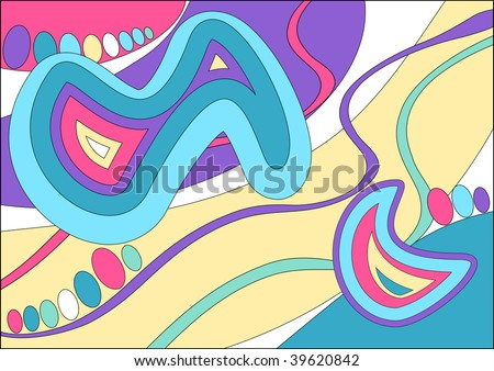 (Jpg) This design is inspired by the fashion designer Emilio Pucci. A vector version is also available. - stock photo