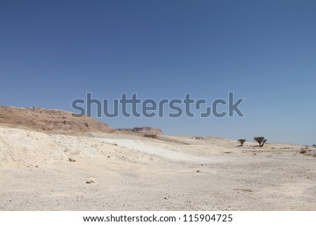 Judean  desert, Israel - stock photo