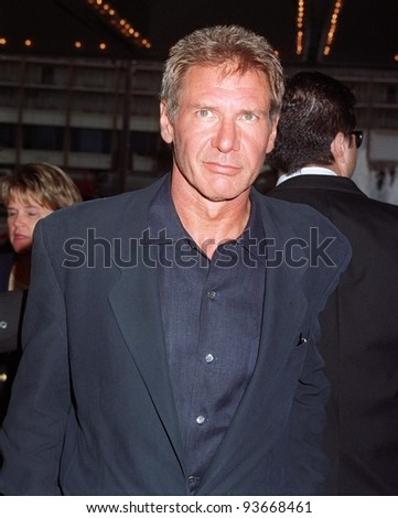 """21JUL97:  Actor HARRISON FORD at the world premiere, in Los Angeles, of his new movie """"Air Force One."""" He stars as a US President who is kidnapped on board Air Force One. - stock photo"""