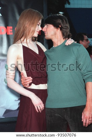 """13JUL99:   Actor TOM CRUISE &actress wife NICOLE KIDMAN at the world premiere, in Los Angeles, of their new movie """"Eyes Wide Shut"""".  Paul Smith / Featureflash - stock photo"""