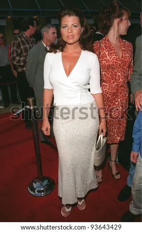 "28JUL98: Actress YASMINE BLEETH at the premiere of ""BASEketball"" at Universal Studios. She stars in the movie with Jenny McCarthy, Trey Parker & Matt Stone. - stock photo"